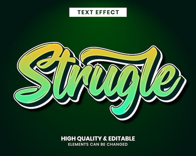 Color vibrante fuente efecto de texto editable