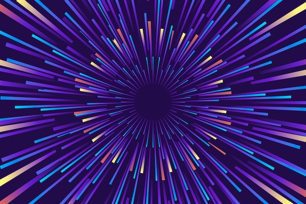 Coloreado en colores fríos fondo de luces de velocidad