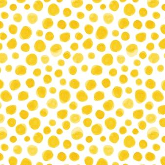Colores amarillos acuarela dotty patrón