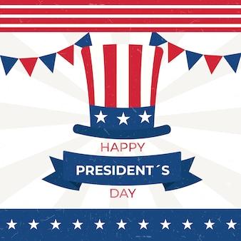 Colores americanos tradicionales día del presidente vintage