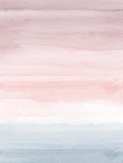 Colores brillantes con degradados de acuarela rosa y gris.