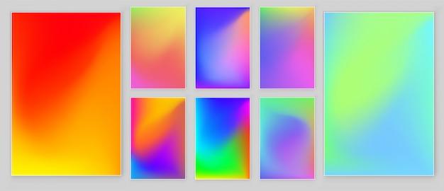 Colores brillantes gradiente cubierta abstracta.