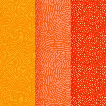 Colores cálidos de la plantilla de patrones sin fisuras de líneas