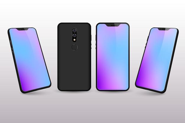 Colores de escritorio degradados del teléfono inteligente