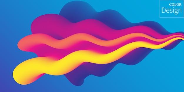 Colores fluidos. forma líquida. salpicadura de tinta.