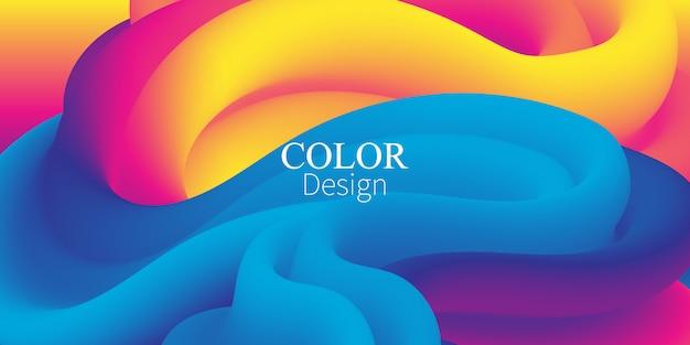 Colores fluidos. forma liquida. salpicaduras de tinta. vector.