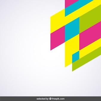 Colores fluor esquina geométrica