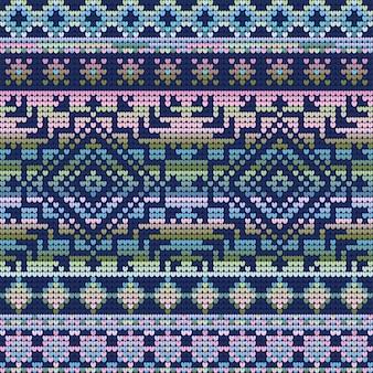 Colores fríos de patrones sin fisuras de suéter feo de navidad, fondo degradado