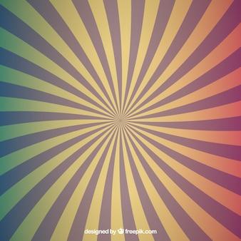 Colores radiales conjunto de fondos