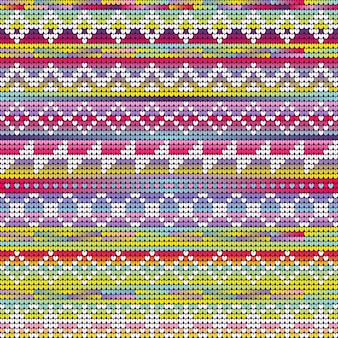 Colores vibrantes tejer patrón geométrico de navidad