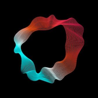 Colorida colección abstracta de líneas de contorno