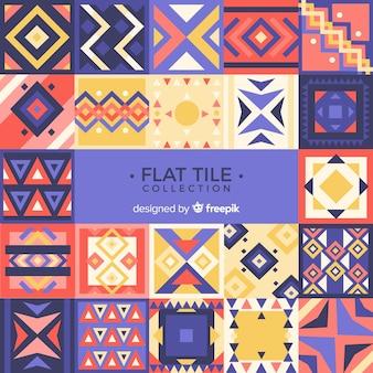 Colorida colección de azulejos