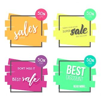 Colorida colección de banner de venta