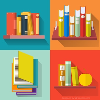 Colorida colección de libros