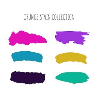 Colorida colección de manchas