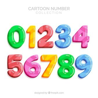 Colorida colección de números