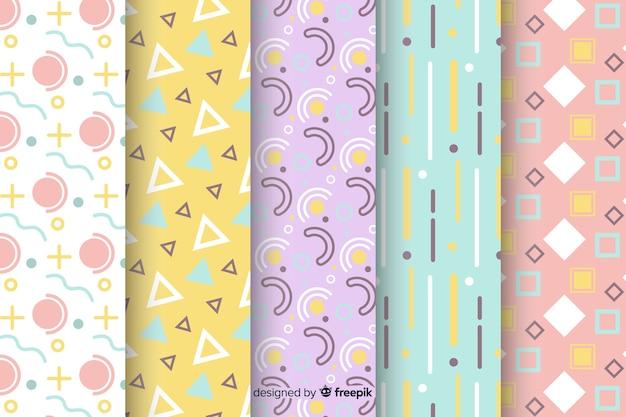 Colorida colección de patrones de memphis