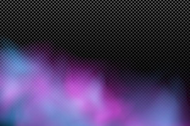 Colorida nube realista sobre un fondo transparente.