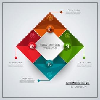 Colorida plantilla de infografía