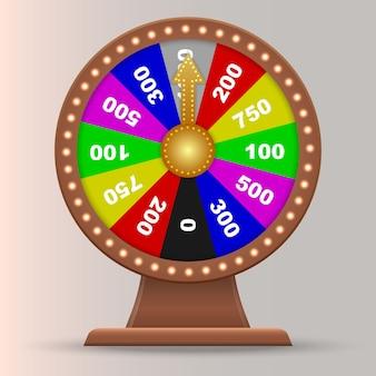 Colorida rueda de la fortuna del casino