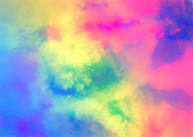 Colorida textura de acuarela