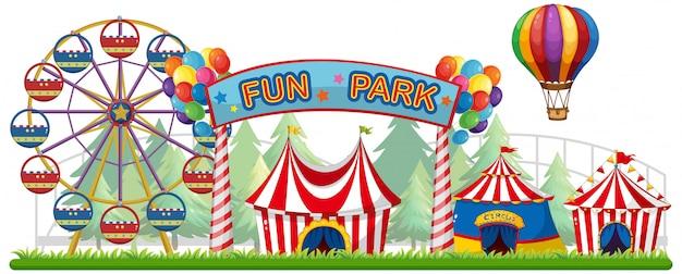El Parque De Atracciones De Dibujos Animados Ven A Jugar: Fotos Y Vectores Gratis