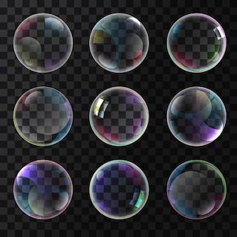 Coloridas burbujas de jabón