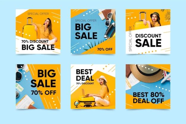 Coloridas publicaciones de instagram de ventas