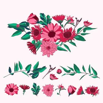 Colorido 2d bouquet floral