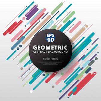 Colorido abstracto círculo de fondo geométrico de fondo.