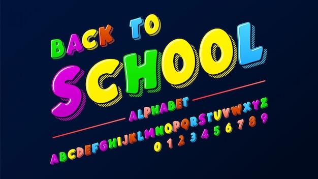 Colorido alfabeto latino
