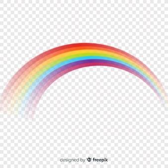 Colorido arcoíris curvado aislado sobre transparente
