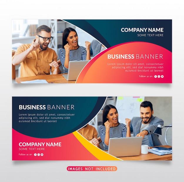 Colorido banner de negocios