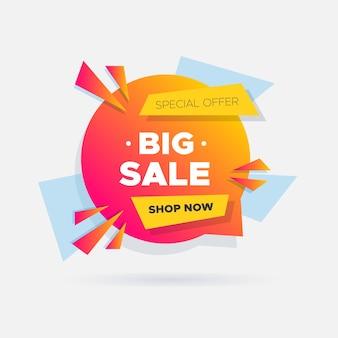 Colorido banner de ventas con gradiente