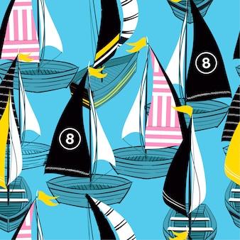 Colorido y brillante verano de patrones sin fisuras