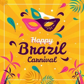 Colorido carnaval brasileño plano