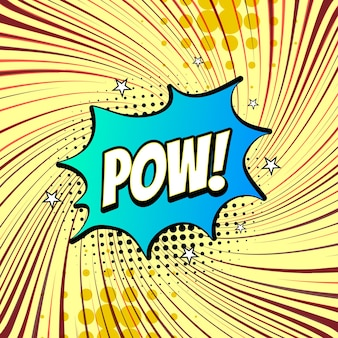Colorido comic pow