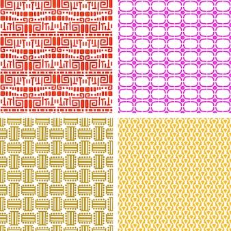Colorido conjunto de patrón étnico africano