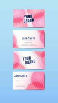 Colorido conjunto de tarjetas de nombre