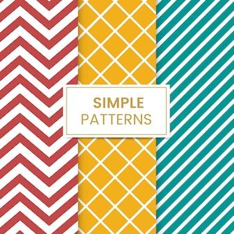 Colorido conjunto de vectores de patrones sin fisuras mezclados