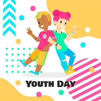 Colorido día de la juventud