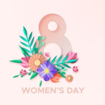 Colorido día de la mujer en papel