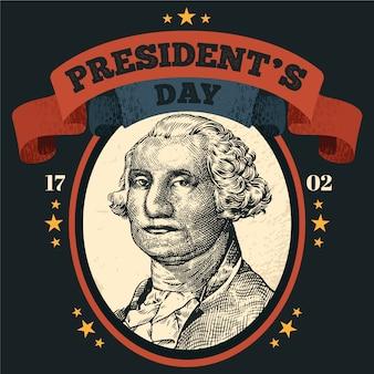 Colorido día del presidente vintage