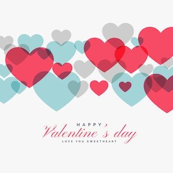 Colorido día de san valentín amor corazones backgorund
