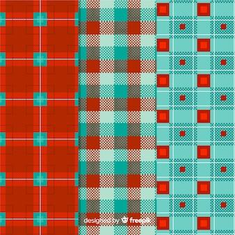 Colorido diseño de colección de patrones de búfalo