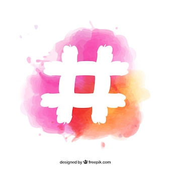 Colorido diseño de hashtag