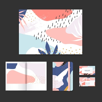 Colorido diseño de memphis diseño conjunto de vectores