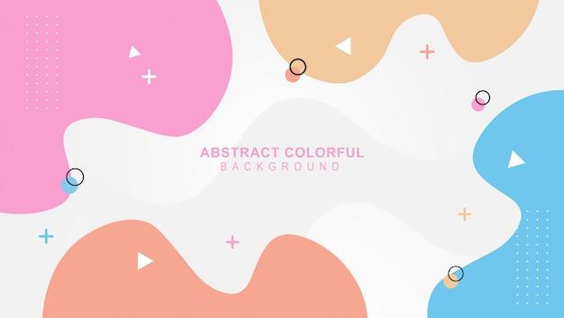 Colorido diseño de mimphis backgeound