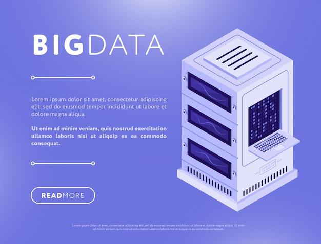 Colorido diseño de página web de base de datos