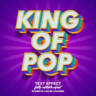 Colorido efecto de texto de arte pop 3d